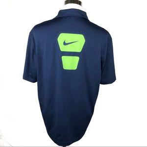 Nike Dri-fit Mens short sleeve polo size large